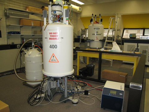 Two of the university's seven NMR spectrometers.