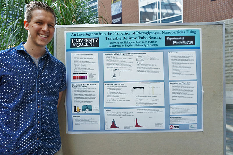Nicholas van Heijst with poster at CEPS Undergraduate Poster Session