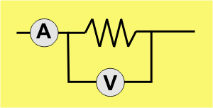 Diagram of a circuit with a resistor
