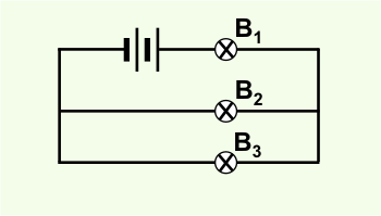 Diagram of circuit with 3 resistors