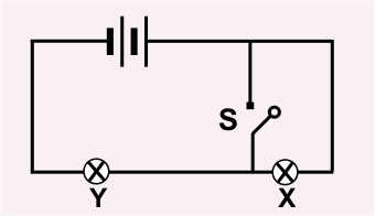 diagram of a circuit with a switch