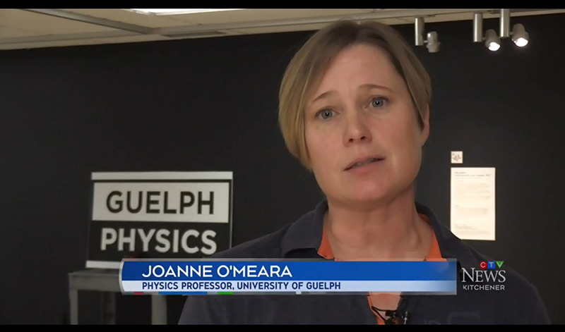 Dr. Joanne O'Meara on CTV News talking about STEM Week