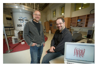 Dr. Vlad Lazidhansky and Dr. Leonid Brown in the NMR centre