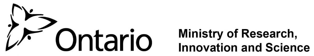Ontario Ministry of Research, Innovation and Science logo